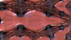 Wired Surf (eXalk) Tags: abstract art digital design 3d model mesh steel render dream fantasy wired fractal computergrafik mandelbulb3d