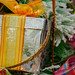 Box and ribbon Christmas ornament