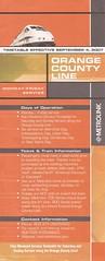 MLKttOC04SEP07 (By Air, Land and Sea) Tags: california railroad losangeles suburban rail railway commuter southerncalifornia orangecounty metrolink schedule timetable scrra orangecountyline