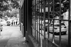 Reflecting Cars (pillarsoflight) Tags: blackandwhite bw monochrome beauty oregon 35mm portland prime aperture nikon adobe pdx desaturated 18 pnw lightroom d3300