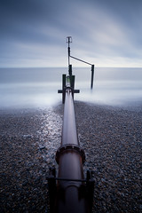 Weybourne - 28/05/2016 (Matthew Dartford) Tags: ocean longexposure morning sea beach landscape coast sand moody bokeh norfolk central wide shingle wideangle coastal defences eastanglia groynes wayborne