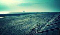 Crosby Beach (2) (bobbex) Tags: sea beach liverpool coast sand gormley crosby merseyside ironmen