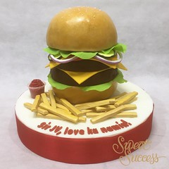 Burger Cake (sweetsuccess888) Tags: cake burger philippines frenchfries birthdaycake hamburger foodart burgercake sweetsuccess