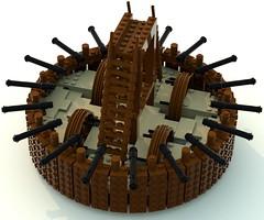 tank1 (ravescat) Tags: wheel hammer tank lego da historical leonardo vinci weapons moc