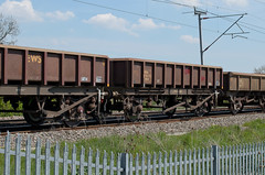 394544 Kingsthorpe 080516 (Dan86401) Tags: 394544 394 mha open ballast wagon freight conversion coalfish fishkind ews db dbcargo latebuildcoalfish engineers departmental infrastructure wilsonscrossing kingsthorpe northampton wcml 6r03