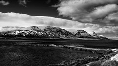 many fjords and mountains to cross (lunaryuna) Tags: bridge light sky bw panorama seascape water monochrome beauty weather season landscape coast blackwhite iceland spring shore fjord lunaryuna crossings cloudscapes mountainrange siglufjordur courseway weathermood northfjords seasonalwonders