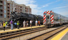 On the scene @ the Franklin Park Rail Day 6/11/16. (Chicago Rail Head) Tags: localrailroad firsttime steamlocomotive diesels locomotivesondisplay passengercars emergencyvehicles 61116 mow equiment oldsteamandcommutertrain