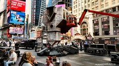 Old Time Religion held Upsidedown in Times Square (MROEDEL) Tags: new york city nyc people buildings manhattan gotham humans roedel madridminer
