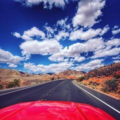 Open Roads! (Will Jaksa) Tags: ford desert lasvegas bigsky mustang redrock cloudporn openroads