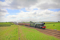 Steaming Scotsman (96tommy) Tags: new york old uk white green station rose train photography coast photo cross main north transport traction railway steam line east kings transportation gb a3 locomotive eastern rare livery lonodn mainline lner 4472 ecml 1z54