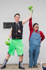 Little Mac and Mario (Sometimes Convention) Tags: game costume video smash cosplay character sony nintendo 8 mario u cube zelda 16 alpha bros bit a7 metroid cosplayers 16bit wii a7r a7rii a7r2