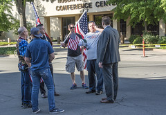 SO WHO BROUGHT THE CROSS? (akahawkeyefan) Tags: us flags fresno trump supporters davemeyer