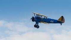 Boeing Stearman Kaydet (Jonathan Saull) Tags: aviation aeroplane airshow duxford boeing warbird airdisplay iwmduxford boeingstearman historicaircraft olympusomdem1 olympusmzuiko40150ed28pro