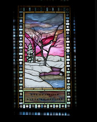 GTY_0124 (Kerri M.) Tags: wyoming grandtetonnationalpark tetons grandteton nationalparks chapel chapelofthetransfiguration stainedglass seasons mountainchurches mountainchapels ice snow