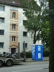 Portaloo (stevenbrandist) Tags: road travel blue hamburg toilet tardis crossedlegs travelogue
