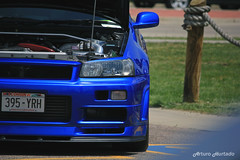 Mug (Arturo Hurtado) Tags: show blue cars car skyline wisconsin midwest nissan power low devil mean legend lowered carshow dells jdm gtr r34 2016 legit boti automotion battleoftheimports canibeat stancewi