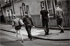 6_Bath-1559 (AndyG01) Tags: street people bw men girl monochrome stone walking mono bath warm legs sandals jeans shorts tone cotswold
