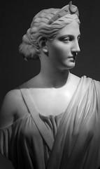 Diana by Hiram Powers (John Bense) Tags: blackandwhite moon art monochrome statue museum greek smithsonian ancient gallery god goddess bust diana american marble powers mythology myth hiram hirampowers