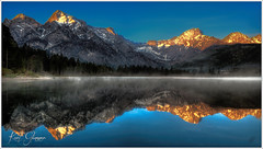 Almsee Morgenstimmung (Karl Glinsner) Tags: mountain lake alps nature sunrise landscape outdoors austria see sterreich natur berge alpen landschaft sonnenaufgang obersterreich gebirge upperaustria almtal grnau almsee
