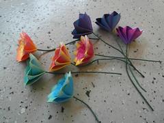 Lonely flowers (Dasssa) Tags: flower paper square origami modular dasssa