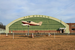 Glenville, NY - Schenectady County Airport (SCH KSCH) Old GE Hangar (dlberek) Tags: sch glenvilleny empirestateaerosciencesmuseum ksch schenectadycountyairport oldgehangar