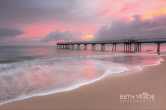 Paradise in Pastels (Beth Wode Photography) Tags: morning clouds sunrise reflections dawn pier sand waves beth jetty queensland herveybay daybreak wode bethwode