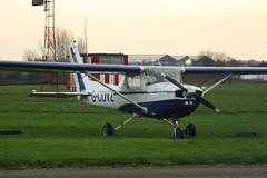 G-COVZ (IndiaEcho Photography) Tags: england west canon eos aircraft aviation aeroplane 150 civil coventry warwickshire cessna airfield midlands aiport cvt baginton egbe 1000d gcovz