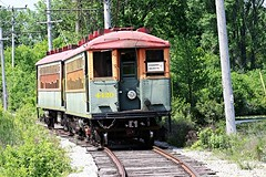 4420 at Lower Phantom Lake (Laurence's Pictures) Tags: railroad light tourism electric museum wisconsin power rail troy tourist east milwaukee interurban streetcar trolly