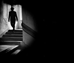 Facing obscurity (Mark Fearnley Photography) Tags: bw hat