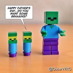 #LEGO #Minecraft #LEGOminecraft #FathersDay #Zombie #Braaains #HappyFathersDay @lego_group @lego @bricksetofficial @bricknetwork @brickcentral (@OscarWRG) Tags: lego zombie fathersday happyfathersday braaains minecraft legominecraft