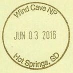 WIND CAVE NP Hot Springs SD (colinLmiller) Tags: nps souvenir passport nationalparkservice rubberstamp cancel nationalparkpassportstamp