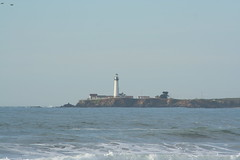 Pacific Ocean Lighthouse (Moore Family 2004) Tags: ca pigeonpoint costanoa