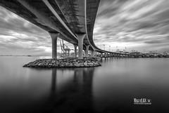 Puente de Almanzor (miguel68) Tags: longexposure bridge serenity cdiz calma algeciras serenidad largaexposicin watermovement puertodealgeciras skywaves puentedealmanzor