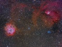Monoceros (Roberto Colombari) Tags: sky stars cone astrophotography astrofotografia universe rosette nebulas deepsky astrometrydotnet:status=solved deepskywest astrometrydotnet:id=nova1614291