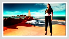 Sail away with me (Shylah Oceanlane) Tags: woman avatar scenic sl secondlife
