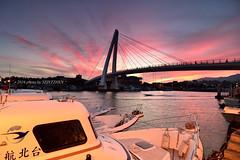 (szintzhen) Tags: bridge sunrise boat taiwan   tamsui    sunglow   newtaipeicity
