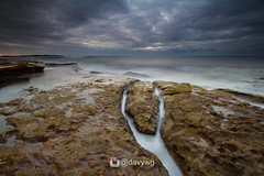 Nulla Beach Sunrise (davywg) Tags: beach rock sunrise canon shark soft sydney 9 overcast filter cracks 1022mm cpl cronulla nisi gnd 60d reversegnd zomei lucroit