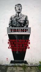 Trump Stencil (seanwalsh4) Tags: street art bristol graffiti stencil political nazi donald ashton trump