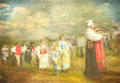 Midsummer in Sweden (BirgittaSjostedt) Tags: summer people texture painting paint midsummer dress sweden traditional celebrate fiddlers ~themagicofcolours~iii