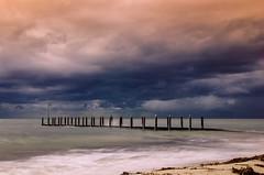 Stormy (tseyin) Tags: ocean longexposure cloud storm clouds boat ramp jetty australia westernaustralia dunsborough