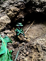 One man mission (Brick Operator) Tags: boonie cave army military lego brickarms camo nature gun