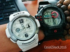 Baby-G & G Shock (radi0head pix'el) Tags: white japan digital thailand movement time g watch el casio shock analogue resist blackwatch sensor gshock barometer timing altimeter whitewatch digitalwatch madeinthailand shockresist gshocks casiodigital twinsensor casiogshock casioilluminator 20bar wr20bar casiojapan casiodigitalwatches