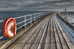 Whitby-South-Pier (Trigger 1) Tags: lines pier yorkshire whitby lifebuoy planks leading hdr