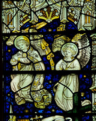 Castle Frome Herefordshire - East Window - Angels 2 (David Cronin) Tags: glass michael stainedglass stained angels herefordshire stmichael kempe castlefrome cekempeandcoltd
