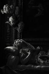 Beata Ludovica Albertoni, Gian Lorenzo Bernini-Roma (martinatrotta) Tags: blackandwhite bw sculpture photo nikon chiesa angels marble bernini barocco beataludovicaalbertoni