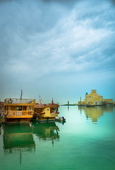 Museum of Islamic Art, Qatar (Abdulla555) Tags: reflections relax boats boat calm doha qatar