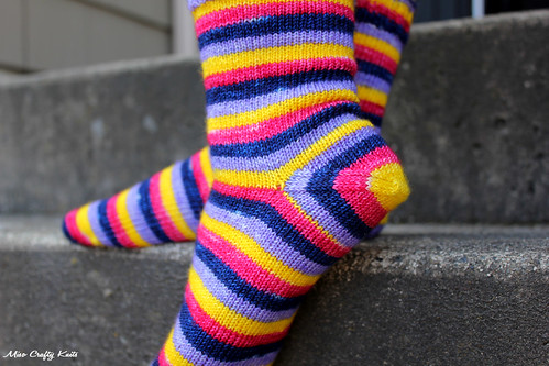 April Showers Socks - Heel