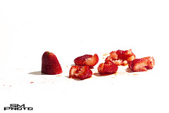 The Culprit (Sawyer Mahoney Photography) Tags: shadow red food white plant color reflection art nature beautiful horizontal closeup fruit studio photography three photo juicy healthy strawberry berry shiny raw shot bright image sweet cut eating juice vibrant background object group seed vivid objects tasty front fresh delicious artsy sawyer isolated freshness ripe squashed mahoney nutrient smphoto