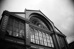 Borough Market (andrew-moore) Tags: flowers blackandwhite food london architecture spring market britain streetphotography tasty boroughmarket borough uploaded:by=flickrmobile flickriosapp:filter=nofilter