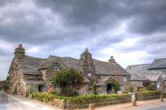 Post Office (Tony Shertila) Tags: england sky building weather stone clouds europe cornwall day village cloudy britain oldpostoffice nationaltrust hdr tintagel englishheritage trevena medievalmanorhouse mygearandme